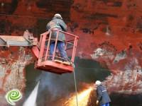 שריפה באניה שהובילה קומפוסטים