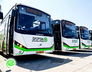מהיום בבוקר, חברת ״אפיקים״ תפעיל את התחבורה הציבורית