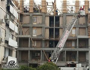 פועל נפל מגובה של 3 מטרים באתר בניה