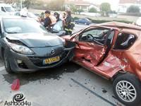 תאונה בשד׳ משה סנה – עומס תנועה במקום