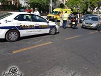 3 נפגעים קל בתאונת דרכים ברחוב חיים משה שפירא