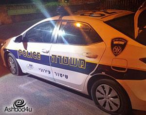 קטין בן 15 חיבל בניידת השיטור העירוני ונעצר