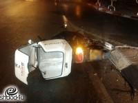 רוכב קטנוע נפגע מרכב פרטי