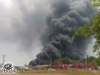 שריפה במתקן לסינון סולר בבית הזיקוק פז אשדוד