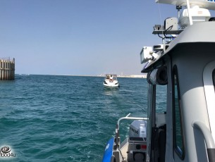 יחידת השיטור הימי חילצו סירה מערבית לאשדוד