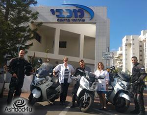יחידת מאבטחים על אופנועים תגן על צוותי מכבי שירותי בריאות