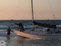 יאכטה נסחפה ועלתה על ״שרטון״ בקרבת חוף אשדוד