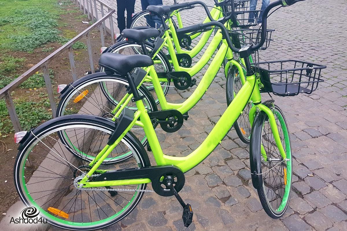 אופניים שיתופיים, עכשיו גם אשדוד