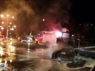 נהג ריינג'ר נפצע קל הרכב עלה באש