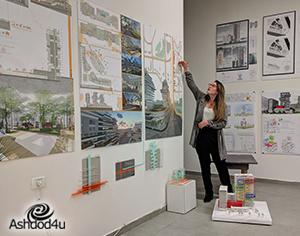 הצלחה לתערוכה האדריכלית