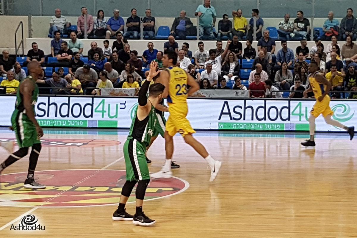 7 בום: 85-74 למכבי אשדוד על מכבי חיפה