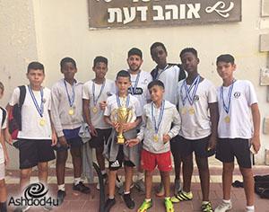 בית ספר מקיף ג' מקום ראשון בכדורגל