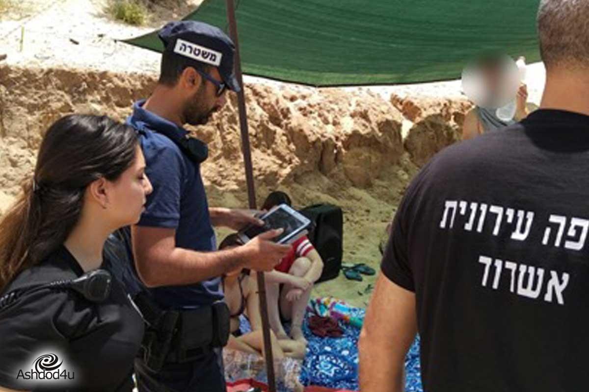 עשרות רבות של משקאות אלכוהול הושמדו בחופי אשדוד