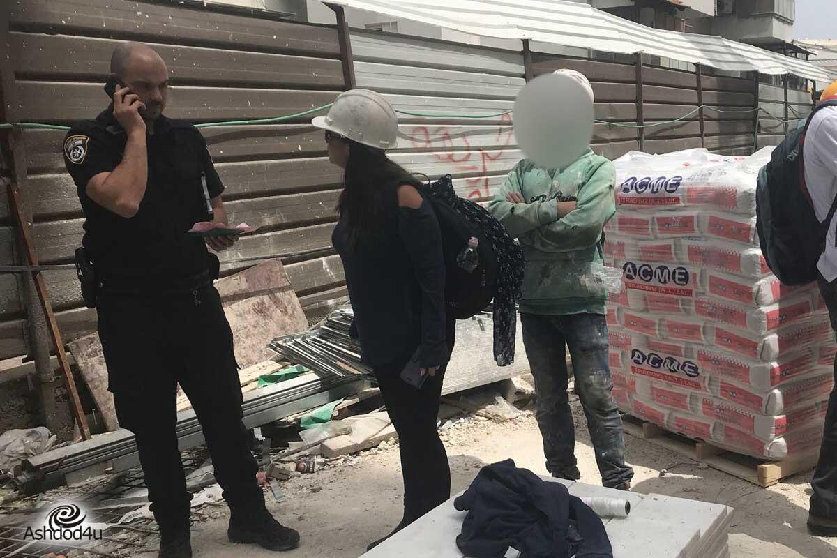 מספר שוהים בלתי חוקיים אותרו באשדוד, אחד נעצר.