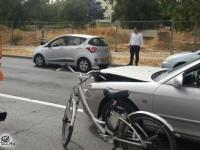 שלושה רכבים פרטיים מעורבים בתאונה
