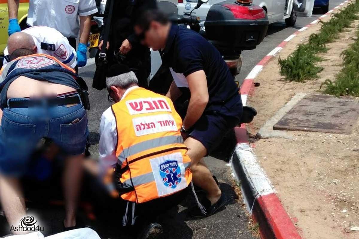פצוע קל בתאונת אופנוע