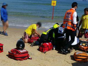 גבר בן 70 נמשה מהמים לאחר אירוע לב
