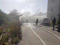 שריפה במבנה תחנת המשטרה הישן