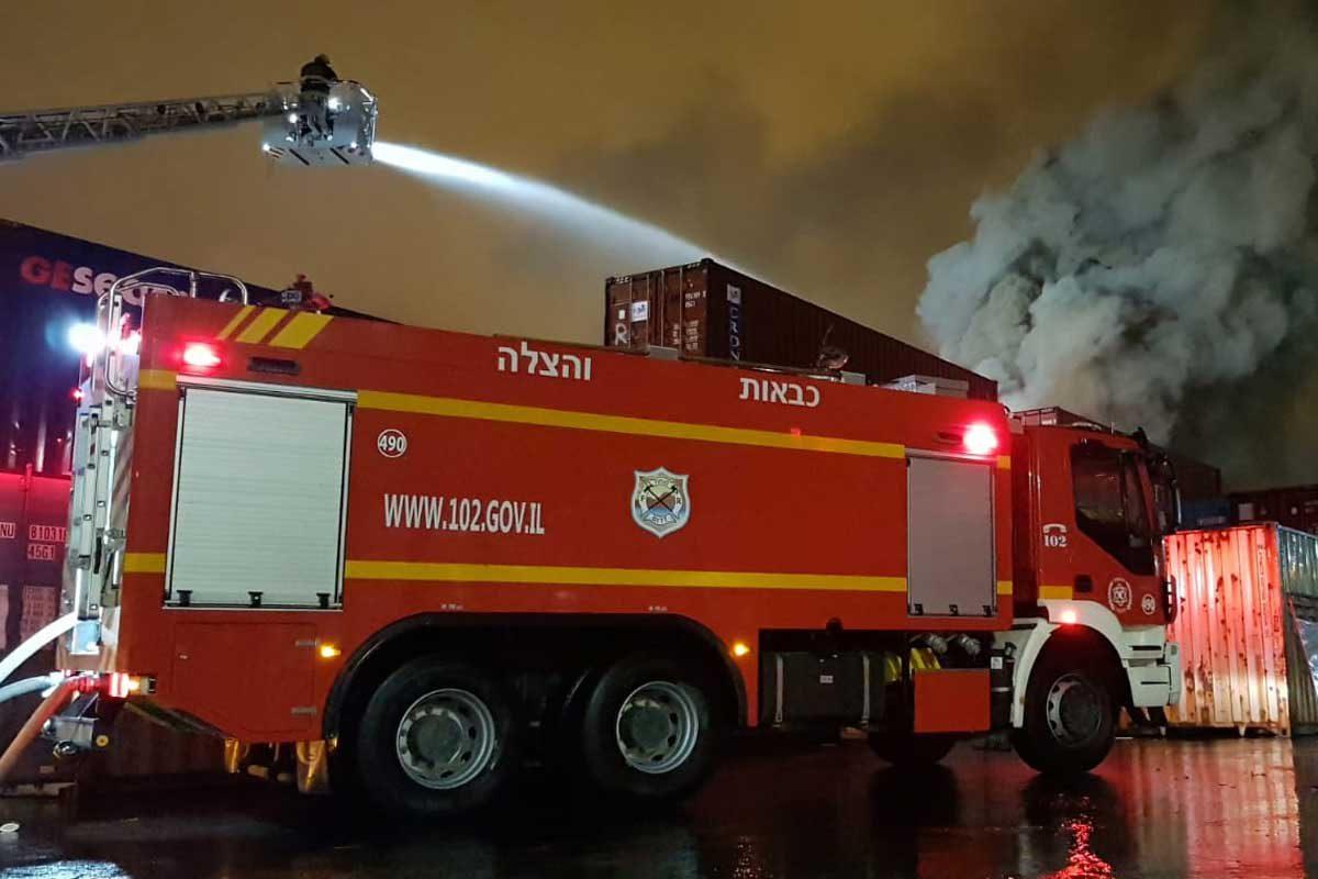 שריפת ענק באיזור התעשייה הצפוני