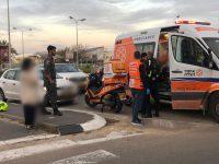 הולכת רגל (45) נפצעה בתאונה עם מעורבות רכב פרטי