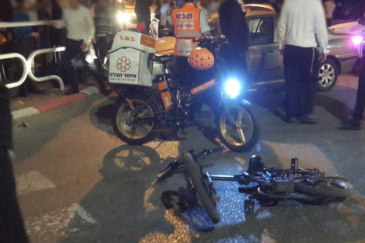 רוכב אופניים חשמליים נפגע מצבו מוגדר קל עד בינוני
