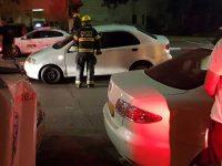 פגע אחד בזירת תאונה בין שני רכבים פרטיים