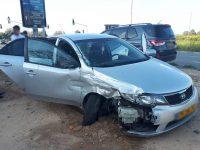 4 נפגעים (בינהם 2 ילדים) בתאונה בין משאית לרכב פרטי