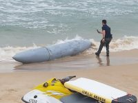 מיכל דלק של מטוס קרב נסחף אל חופי אשדוד