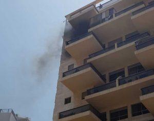 שריפה בבניין מגורים ברחוב נחל לכיש ברובע יא׳