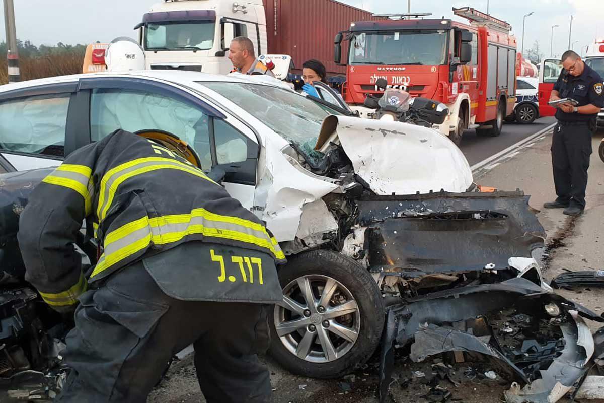 תאונה חזיתית בצומת ניר גלים – פצוע בינוני
