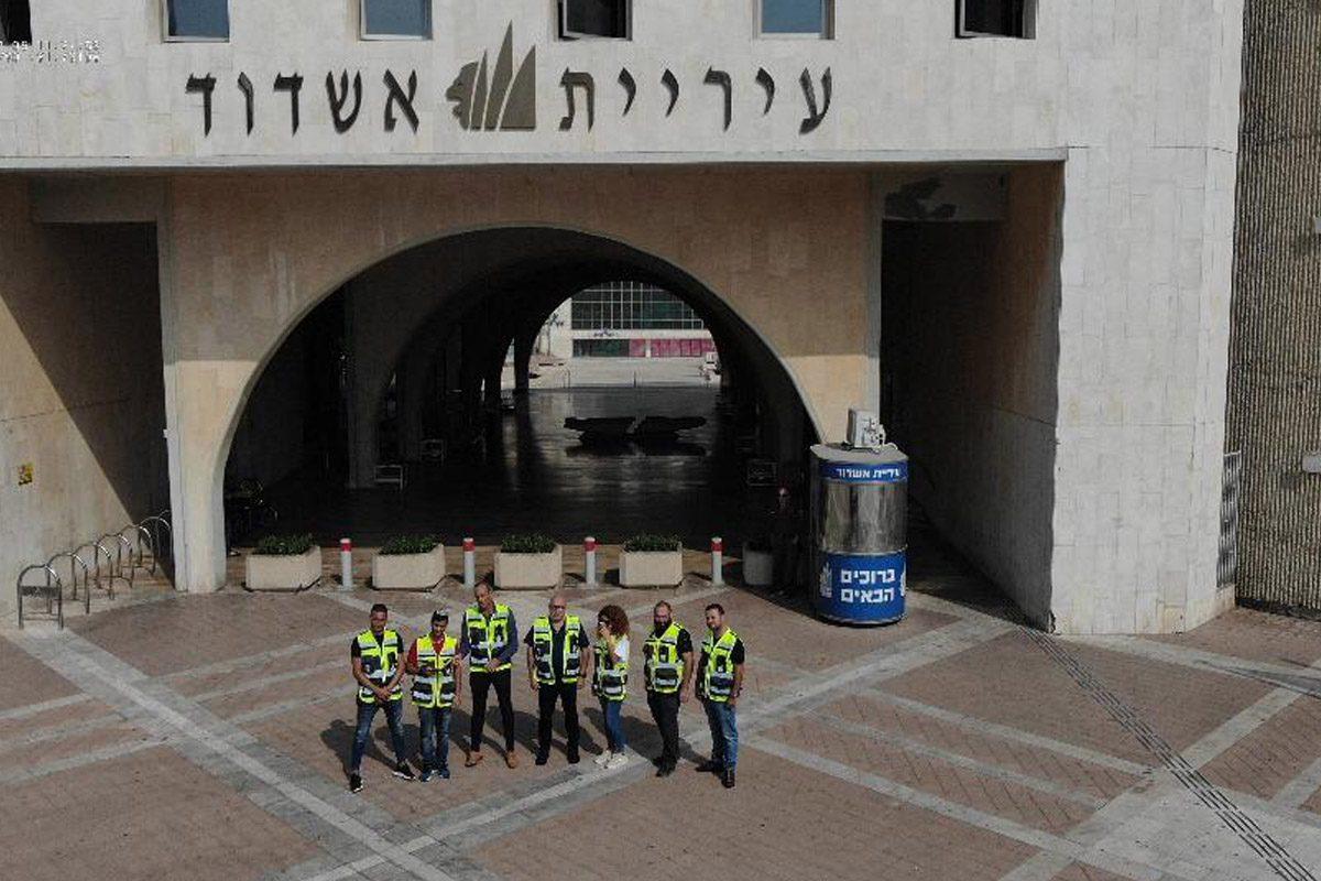 עיריית אשדוד עם יחידת הטסה חדשה