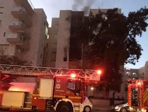 שריפה בבניין מגורים ברובע ח׳